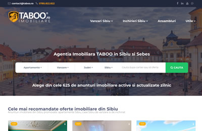 Website Taboo Imobiliare